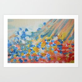 Pastel Pastel Abstract Oil Art Print