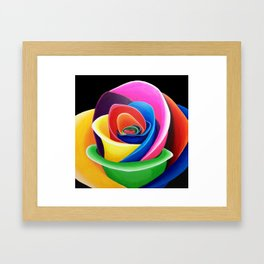 Rainbow Flower Framed Art Print