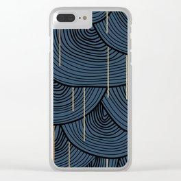 Golden Rain Clear iPhone Case