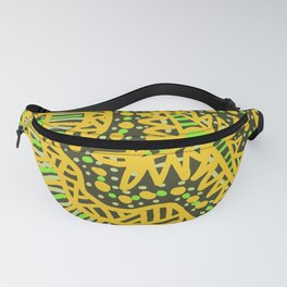 Doodle 16 Yellow Fanny Pack
