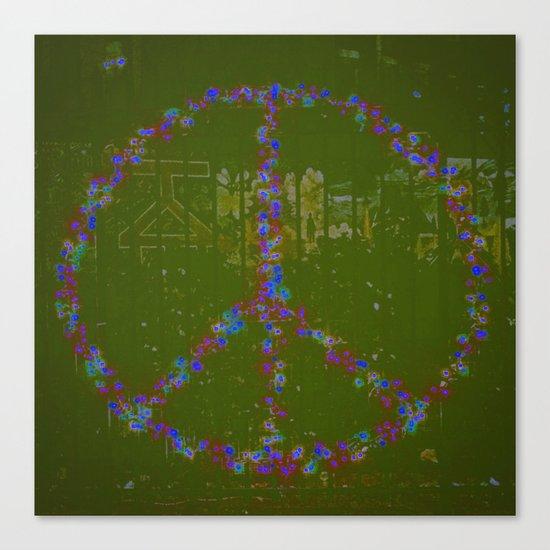 Peace B Wit U Canvas Print