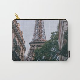 France Photography - Eiffel Tower Seen From Between Two Buildings Carry-All Pouch