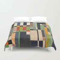 fez Duvet Covers featuring Paralelos by Fernando Vieira