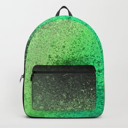 Neon Lime Green and Black Spray Paint Art Backpack