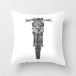 Vintage Italian 860 GTS Motorcycle Throw Pillow