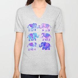 Elephant Collection – Indigo Palette Unisex V-Neck