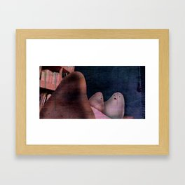 ..what are you guys doing here Framed Art Print