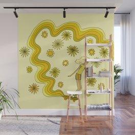 groovy skate hang 10 // tony alva style // surfy birdy art Wall Mural