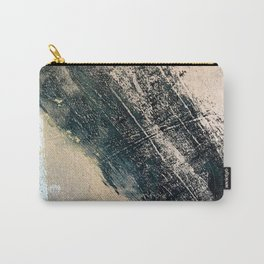 Honey 2: a pretty, minimal abstract mixed-media piece in blue, gold, and pink Carry-All Pouch