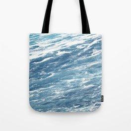 Ocean Water Waves Foam Texture Tote Bag
