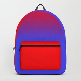 Neon Red and Bright Neon Blue Ombre Shade Color Fade Backpack