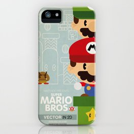 mario bros 2 fan art iPhone Case