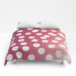 Design dots on pink. Vint. 50s dots Comforters