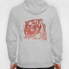 8 Ball Tiger - Red Hoody