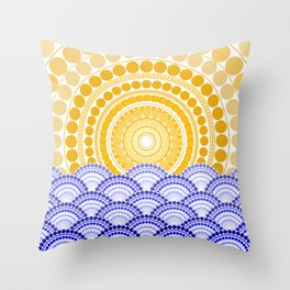 LIGHT OF DAWN (abstract tropical) Throw Pillow