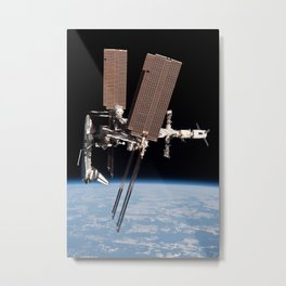 Endeavour docked to ISS Metal Print