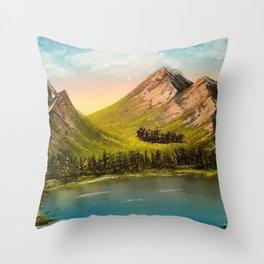 Peaceful Peaks Throw Pillow