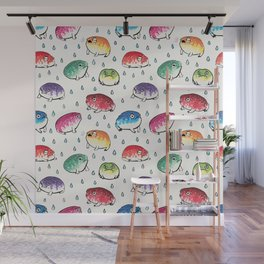 Round Rain Frogs Wall Mural