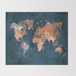 world map 15 Throw Blanket