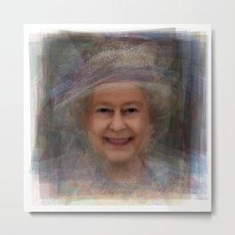 Queen Elizabeth II Portrait Metal Print