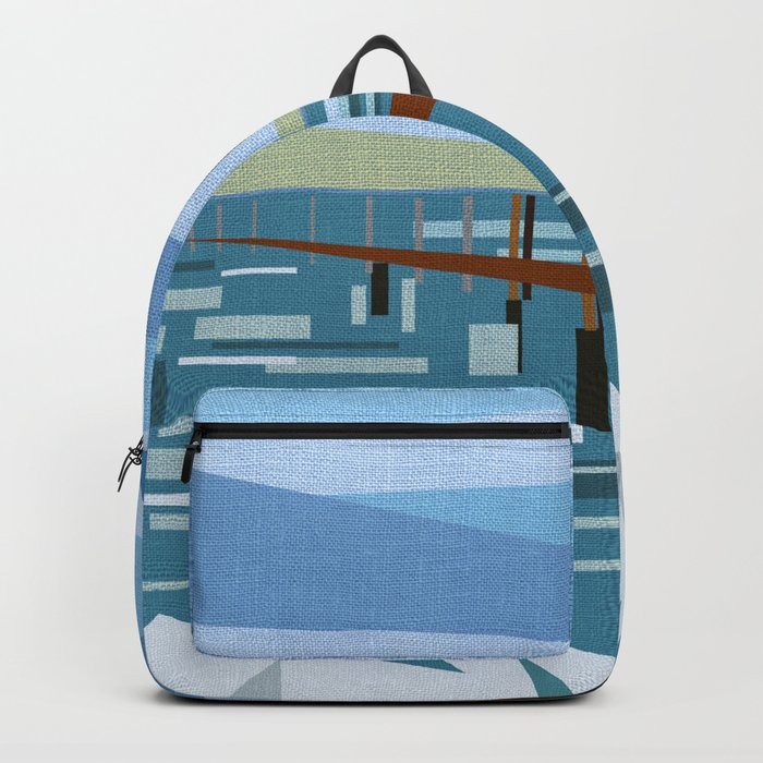 LOOKING AT THE SEA (abstract) Backpack