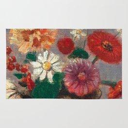 "Odilon Redon ""Flowers in a Green Vase (Fleurs Dans Un Vase Vert)"" Rug"