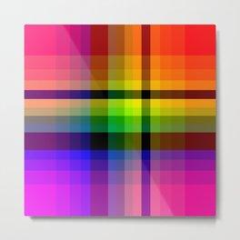 Color wheel plaid Metal Print