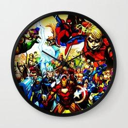 super hero full power Wall Clock