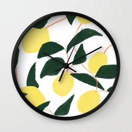 Lemons, from Naples Wall Clock