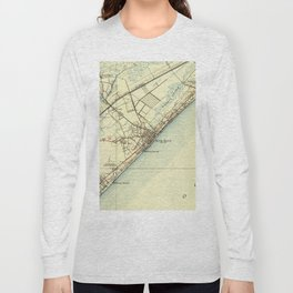 Vintage Map of Myrtle Beach South Carolina (1940) Long Sleeve T-shirt