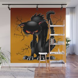 Black Cat Evil Angry Funny Character Wall Mural