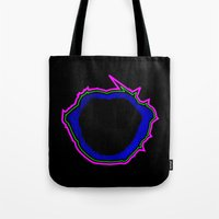jaws Tote Bags featuring Jaws by Travis Pedroza