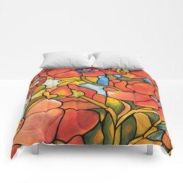 Red Poppy Lamp Comforters