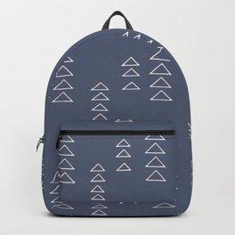 Modern Minimalist Triangle Pattern in Slate Blue Backpack