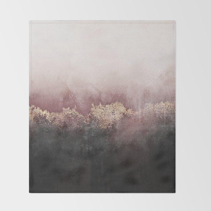 Pink Sky Throw Blanket