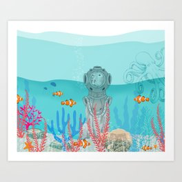WATER DOG Art Print