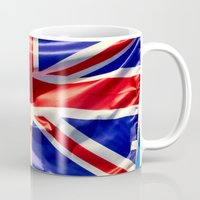 england Mugs featuring England Flag by Fine2art