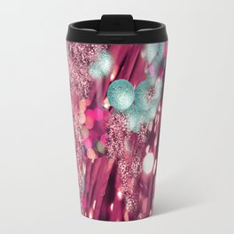 Abstract purple,turqoise light Travel Mug