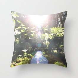 Out in The Woods Throw Pillow