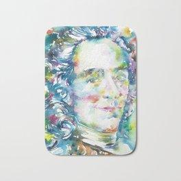 VOLTAIRE - waterrcolor portrait Bath Mat
