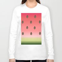 watermelon Long Sleeve T-shirts featuring Watermelon by Julia Badeeva
