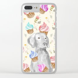 CUPCAKES AND WEIMARANER Clear iPhone Case
