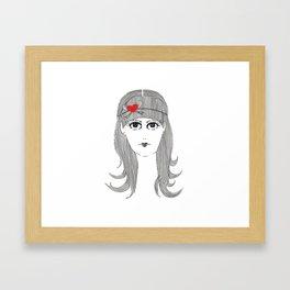 Ribbon Hair Framed Art Print