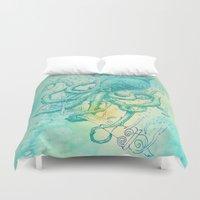 kraken Duvet Covers featuring Kraken by pakowacz