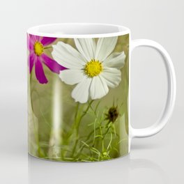 Purple and white autumn flowers Coffee Mug
