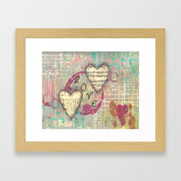 Two Hearts in Love Framed Art Print