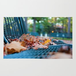 Bench with Autumn Leaves Rug