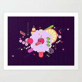 Tasty Visuals - Cherry Poppin' Art Print
