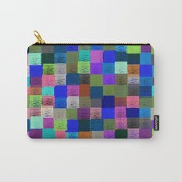 Neon Pixelated Patchwork Carry-All Pouch
