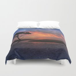 Colorful Sunset on the Beach Duvet Cover